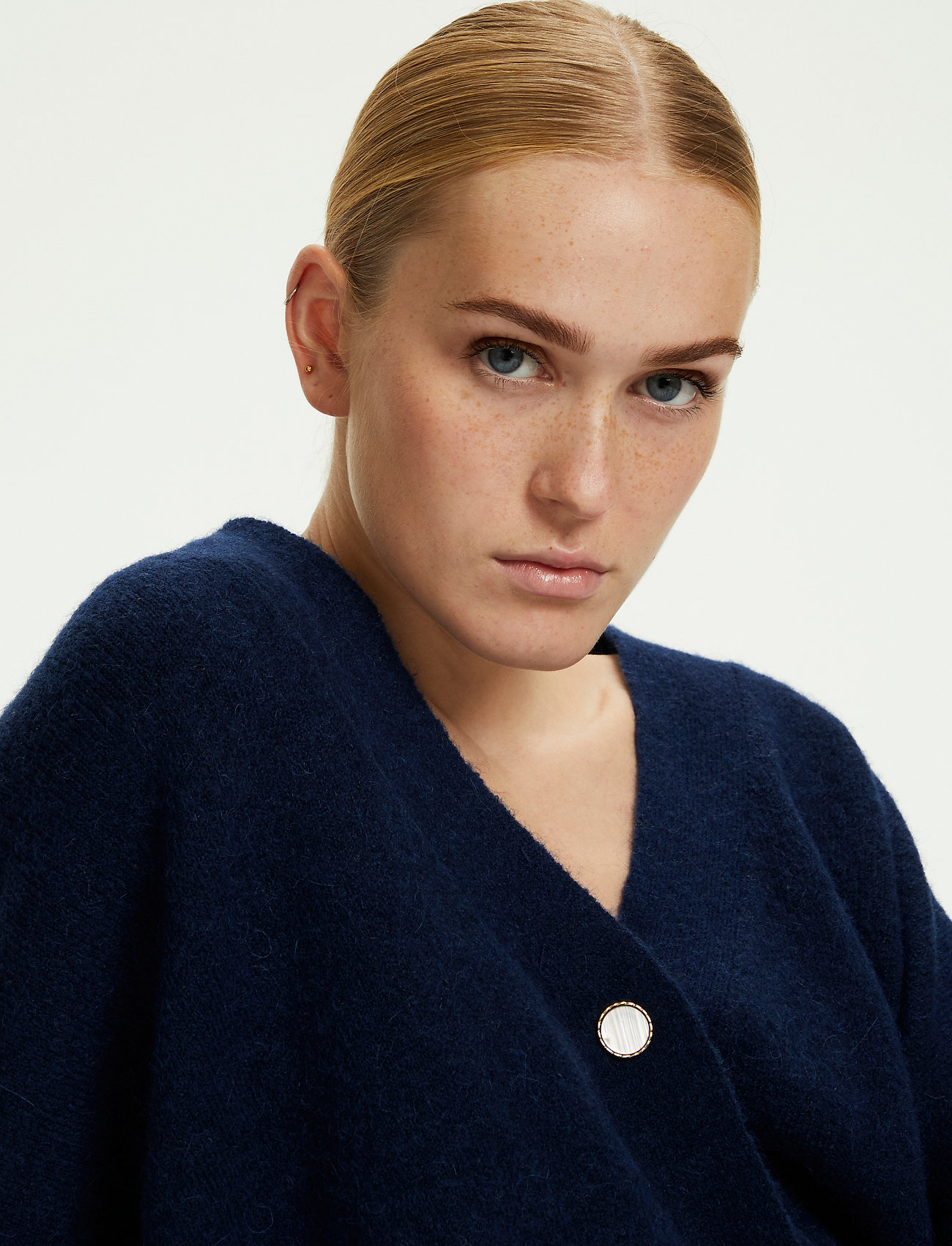 Karen By Simonsen - NoraKB Knit Cardigan - cardigans - black iris - 0