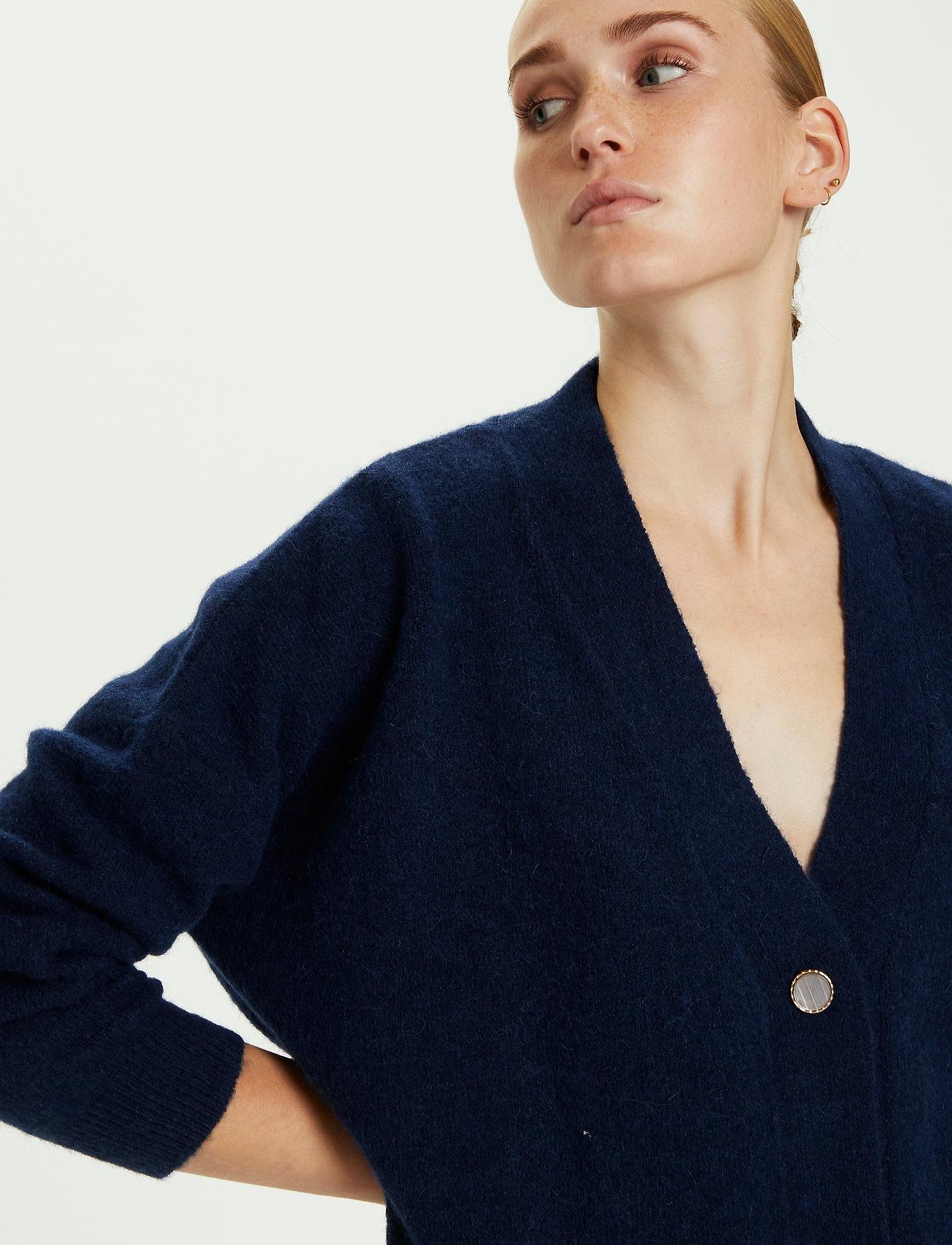 Karen By Simonsen - NoraKB Knit Cardigan - cardigans - black iris - 3