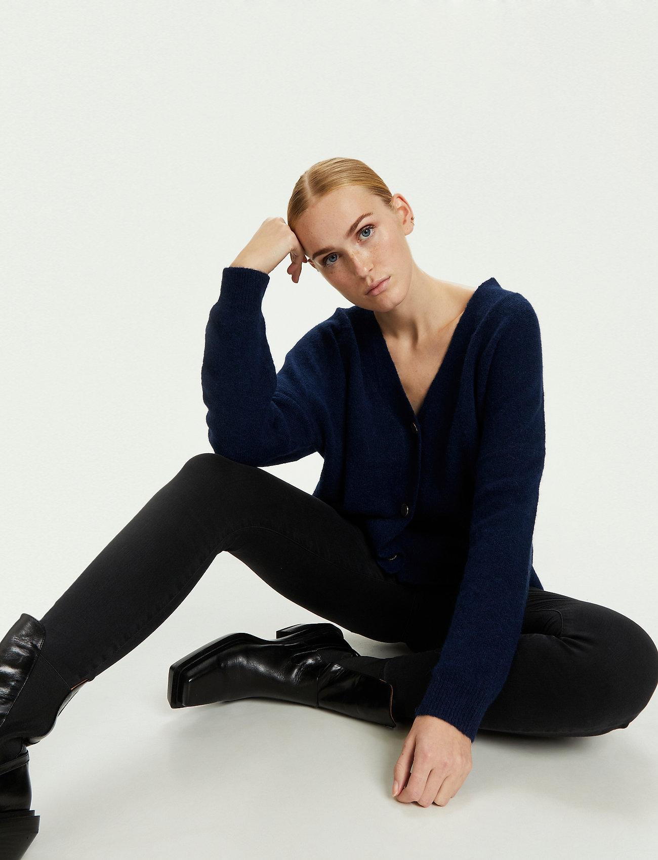 Karen By Simonsen - NoraKB Knit Cardigan - cardigans - black iris - 5