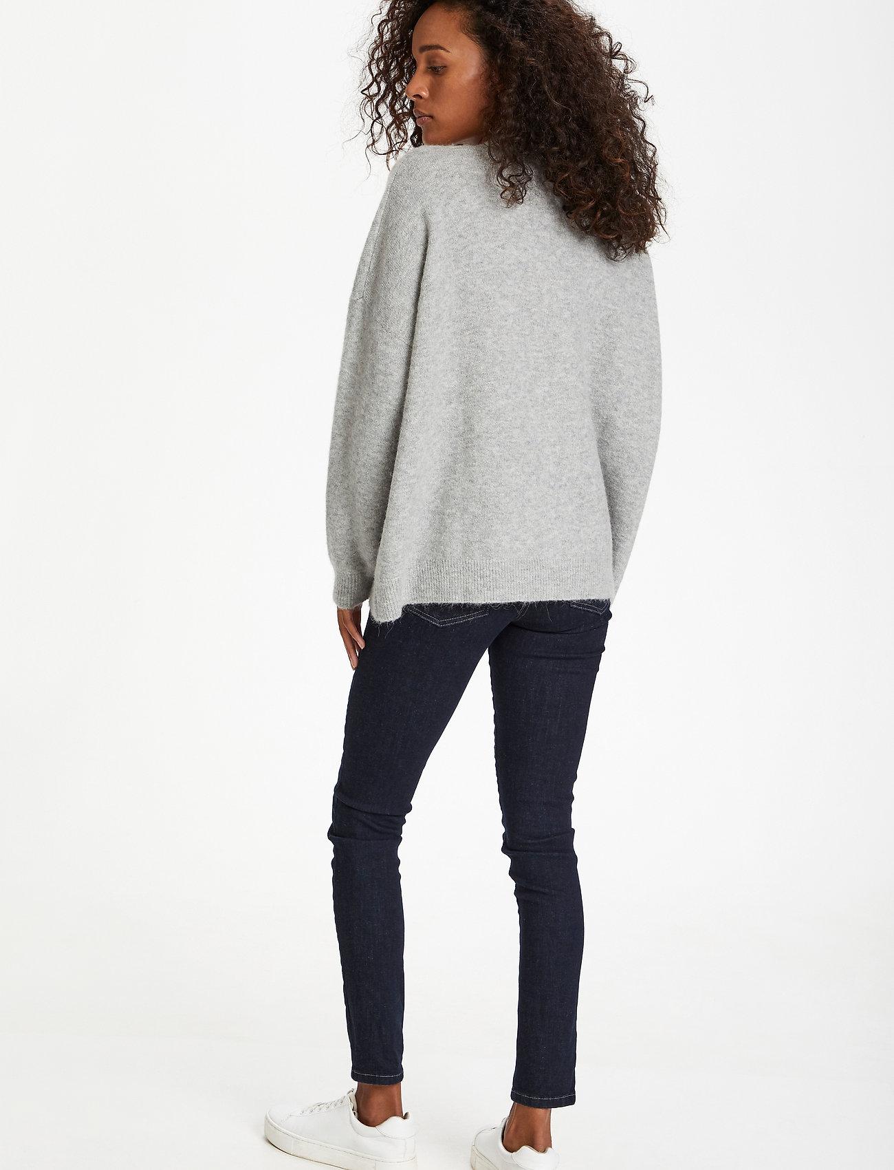 Karen By Simonsen - NoraKB Knit Cardigan - cardigans - frost gray melange - 5