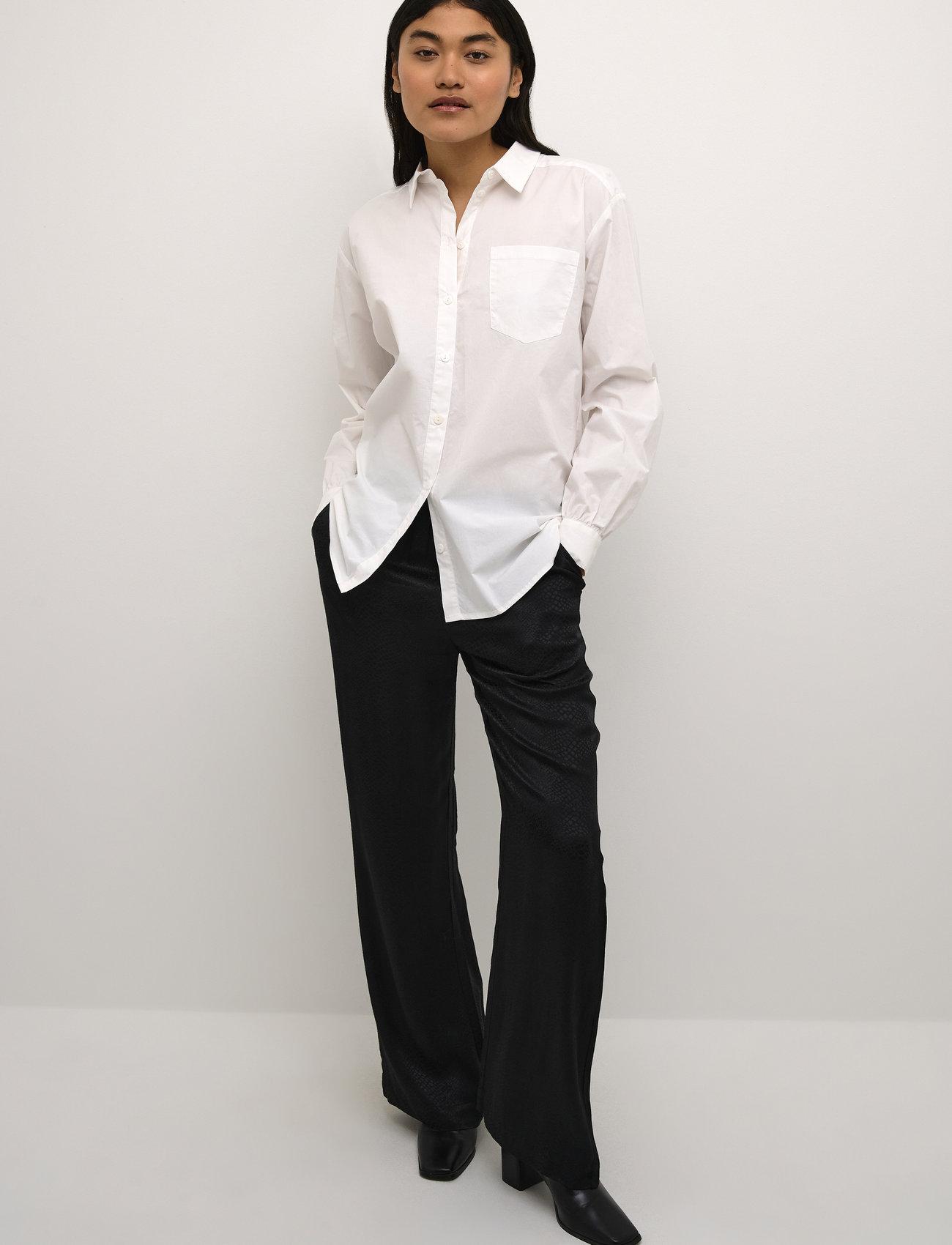 Karen By Simonsen - NinjaKB Shirt - denimskjorter - bright white - 3