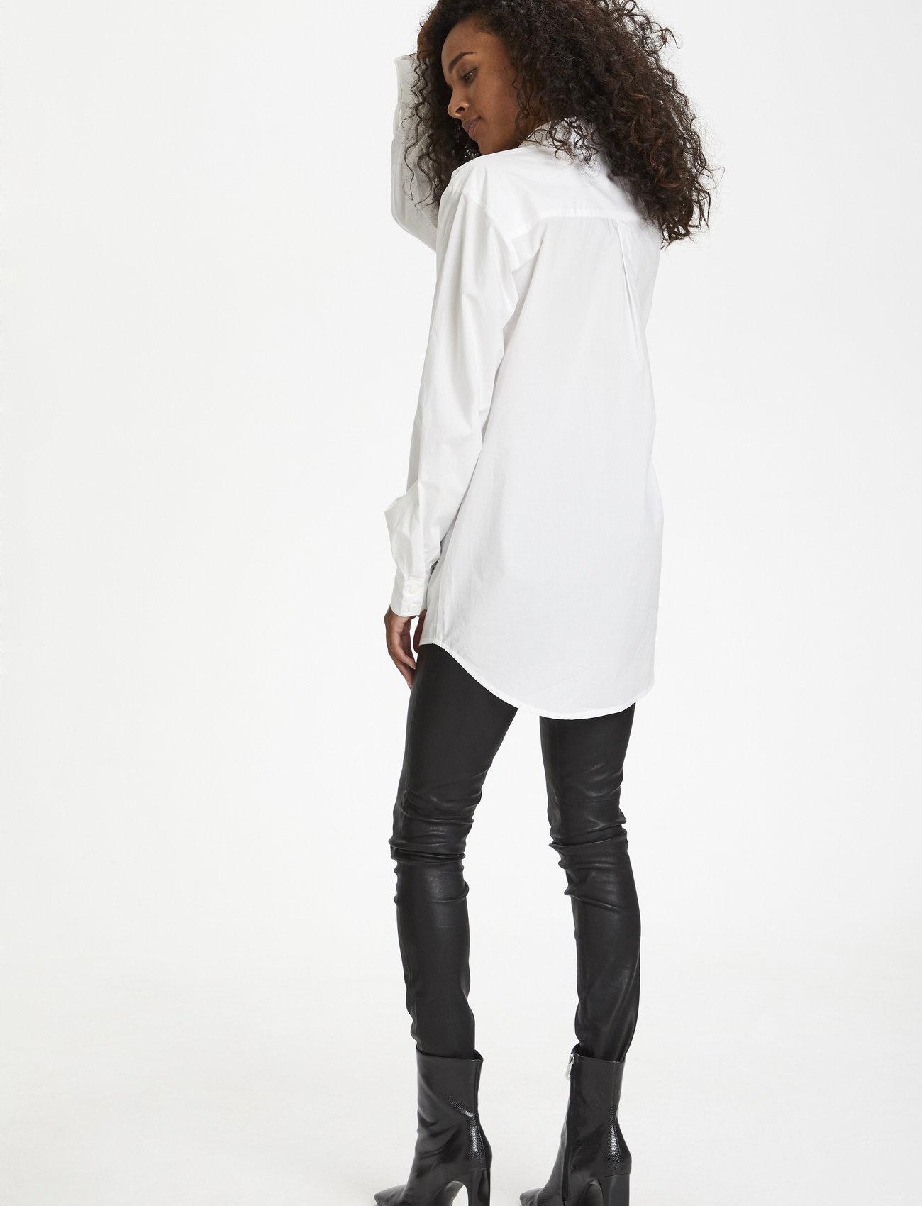 Karen By Simonsen - NinjaKB Shirt - denimskjorter - bright white - 4