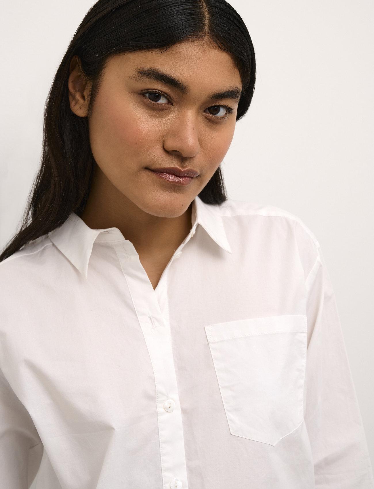 Karen By Simonsen - NinjaKB Shirt - denimskjorter - bright white - 6
