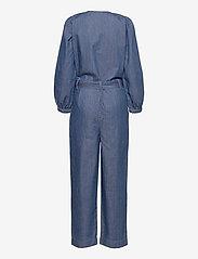 Karen By Simonsen - FigureKB Jumpsuit - jumpsuits - medium blue denim - 2