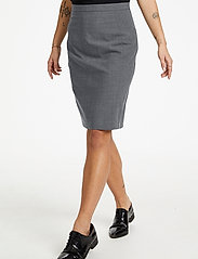 Karen By Simonsen - SydneyKB Pencil Skirt - midi kjolar - grey melange - 0