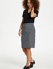Karen By Simonsen - SydneyKB Pencil Skirt - midi kjolar - grey melange - 3