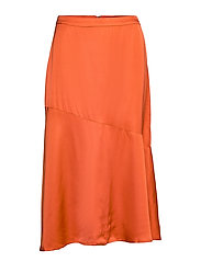 BrennaKB Solid Skirt - ORANGE RUST