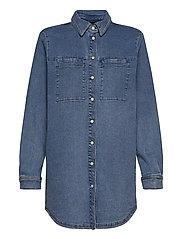 CailyKB Denim Shirt - MEDIUM BLUE DENIM