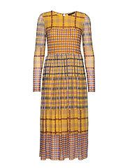 PeonyKB Dress - YELLOW CHECK