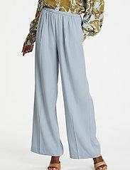 Karen By Simonsen - CalesiKB Wide Pants - bukser med brede ben - celestial blue - 0