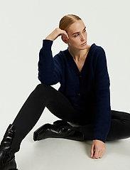Karen By Simonsen - NoraKB Knit Cardigan - cardigans - black iris - 4