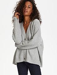 Karen By Simonsen - NoraKB Knit Cardigan - cardigans - frost gray melange - 0