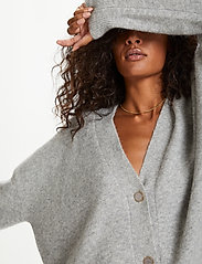 Karen By Simonsen - NoraKB Knit Cardigan - cardigans - frost gray melange - 7
