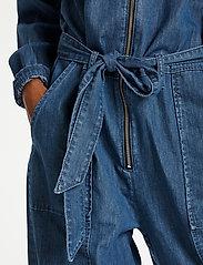 Karen By Simonsen - FigureKB Jumpsuit - jumpsuits - medium blue denim - 4