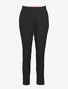 Sydney Checked Fashion Pant - GREY MELANGE