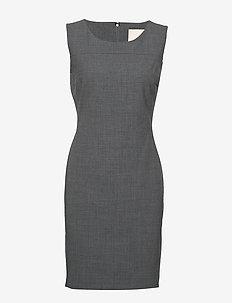 SydneyKB Suit Dress - GREY MELANGE