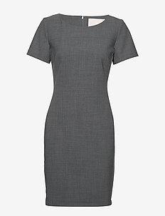 SydneyKB SS Dress - GREY MELANGE