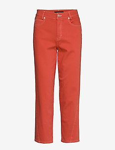 ReeseKB Cropped Jeans - straight jeans - chili