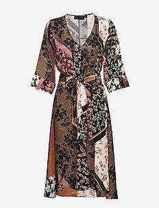 MosaKB Tie Dress - DESERT PALM