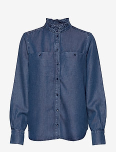 DimaKB Shirt - chemises en jeans - light denim blue