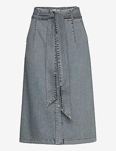 BonnieKB Denim Skirt - jeansowe spódnice - light blue denim