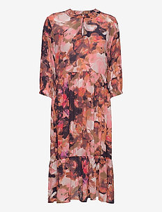 BaiaKB Dress - do kolan & midi sukienki - digital flower