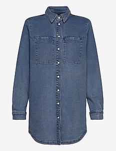 CailyKB Denim Shirt - chemises en jeans - medium blue denim