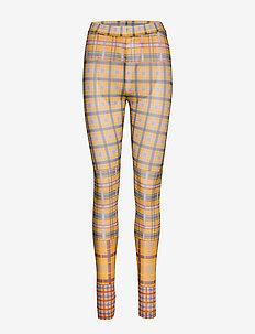 PeonyKB Leggings - leggings - yellow check