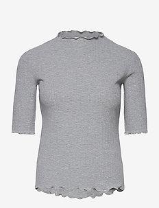 CandaceKB SS Tee - t-shirts - opal gray melange