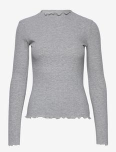 CandaceKB LS Tee - tops met lange mouwen - opal gray melange