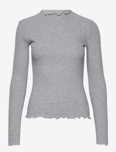 CandaceKB LS Tee - långärmade toppar - opal gray melange