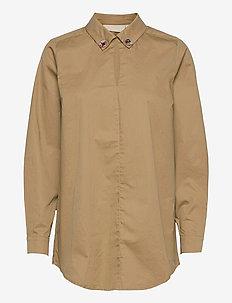 FonzieKB Long shirt - overhemden met lange mouwen - apple cinnamon