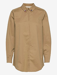 FonzieKB Long shirt - långärmade skjortor - apple cinnamon