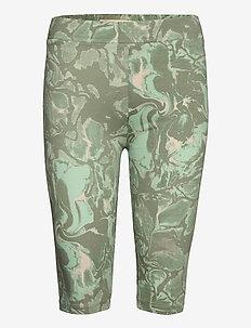 GumiKB Printed Shorts - cycling shorts - seagrass glaze