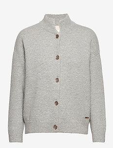 NoraKB Turtleneck Cardigan - vesten - frost gray melange