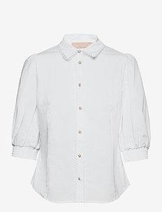 ChillyKB Blouse - kortærmede bluser - bright white