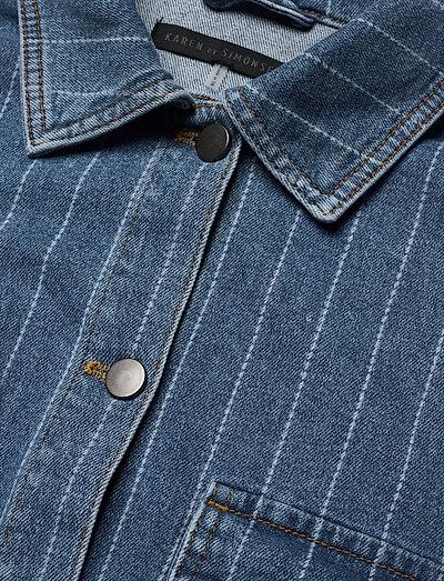 Karen By Simonsen Mattakb Denim Jacket- Jacken & Mäntel Light Blue