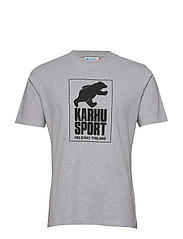 Helsinki Sport T-shirt - HEATHER GREY/BLACK