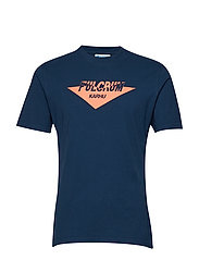 Fulcrum T-shirt - NAVY POSEIDON/HOT CORAL