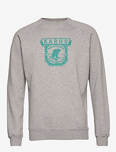 1916 LOGO SWEATSHIRT - HEATHER GREY / FANFARE