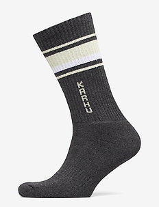 TUBULAR-87 SOCKS - DARK GREY MELANGE / WHITE