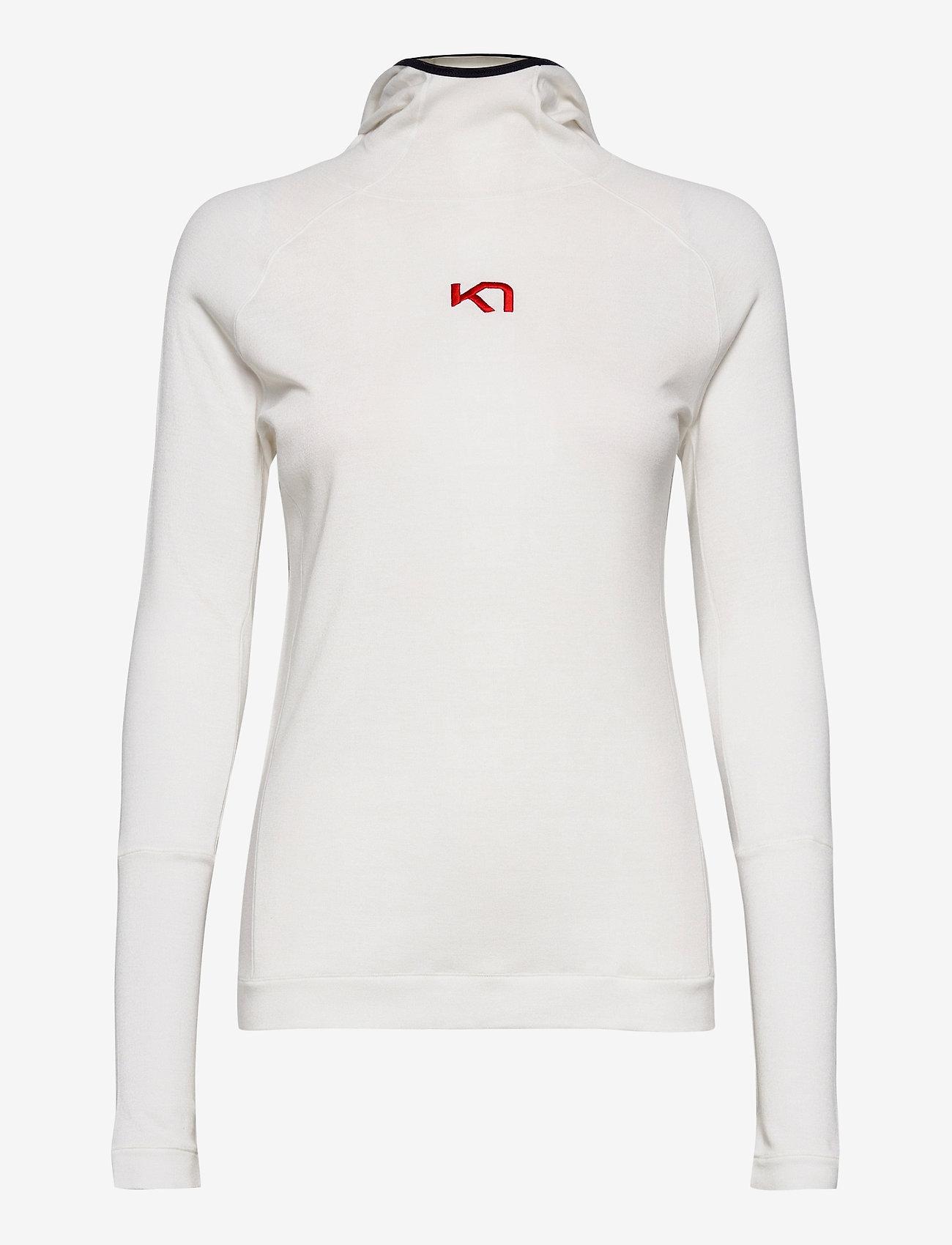 Kari Traa - RULLE HOOD - base layer tops - bwhite - 0