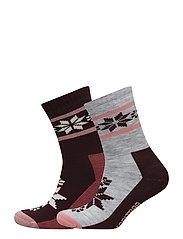 RUSA WOOL SOCK 2PK - JAM