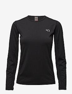 NORA LS - logo t-shirts - black