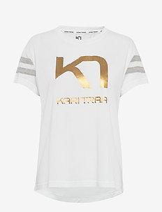 VILDE TEE - logo t-shirts - bwhite