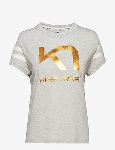 VILDE TEE - logo t-shirts - greym