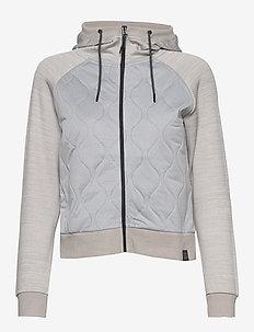 NINA HYBRID - mid layer jackets - greym