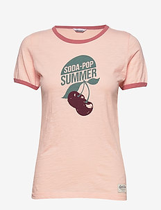 SONGVE TEE - t-skjorter med trykk - flush