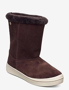 STEG - flat ankle boots - cigar