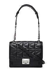Kuilted Studs Small Handbag - BLACK